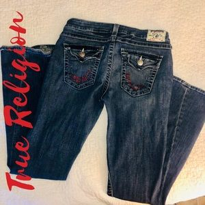 True Religion Women's Flare Leg Denim Jeans Sz 32
